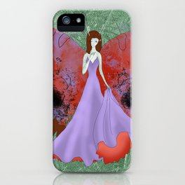 Red Butterfly fairy iPhone Case