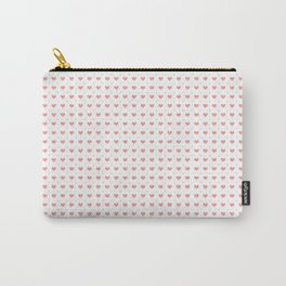 Pink Hearts Pattern Big Little Carry-All Pouch