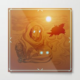 Primordia Horatio and Crispin walk in the sand Metal Print