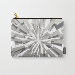 Grey Sunburst Carry-All Pouch