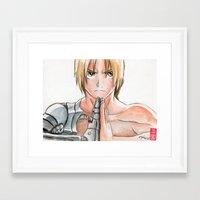 fullmetal Framed Art Prints featuring Edward Elric - Fullmetal Alchemist by rchaem