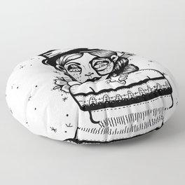 Top Hat Girl Floor Pillow