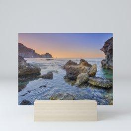 Higuera Cala. Cabo de Gata Natural Park. Calm sunrise. Mini Art Print