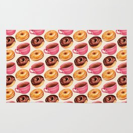 Coffee & Donuts Pattern Rug
