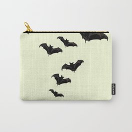MYRIAD BLACK FLYING BATS DESIGN Carry-All Pouch