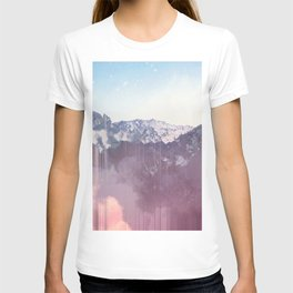 Glitched Mountains T-shirt