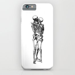 Kissing Skeleton iPhone Case
