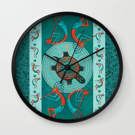 Visitors Anasazi Folk Art Wall Clock