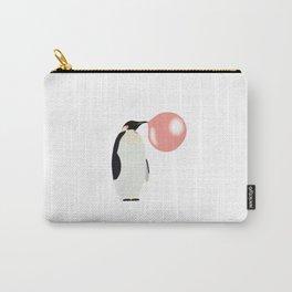 Bubble Gum Penguin Blowing Bubble Carry-All Pouch