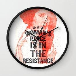 Resistance Leia Wall Clock