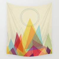 mountain Wall Tapestries featuring Holy Mountain by Picomodi