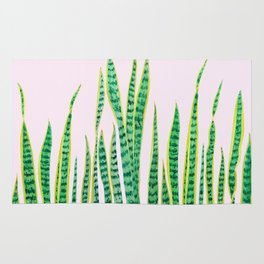 snake plant painting Rug
