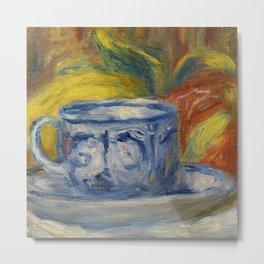 """Auguste Renoir """"Tasse et fruits (Cup and fruits)"""" Metal Print"""