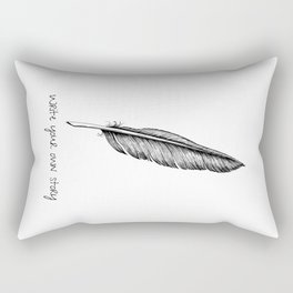 Feather and Quote no.2 Rectangular Pillow