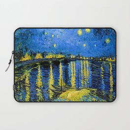 Van Gogh Starry Night Over the Rhone Laptop Sleeve