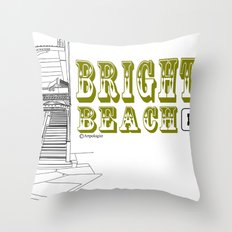 Brighton Beach Elevated Station Throw Pillow