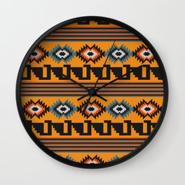Geometric with colorful stripes Wall Clock