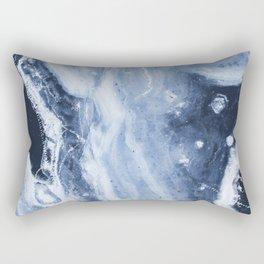 Marble Ice Indigo Rectangular Pillow
