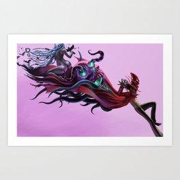 Bloodshot Carnival Art Print