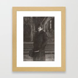 Dark Victorian Portrait: The Butcher of White Chapel Framed Art Print