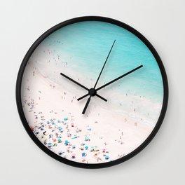 Beach Loving - Aerial Beach photography by Ingrid Beddoes Wall Clock