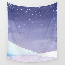 Snowy Landscape Abstract Wall Tapestry
