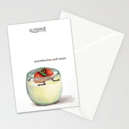 La Cuisine Fusion - Strawberries with Mayo Stationery Cards