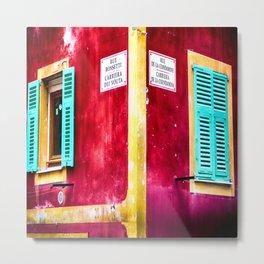 Rue Rossetti et Rue De La Condamine in Vieux Nice Metal Print