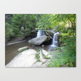 Silver Shower Cascades Canvas Print