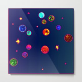 Constellations aquarian Metal Print