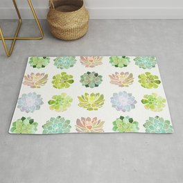 Spring Succulents Rug
