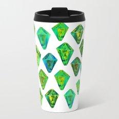 Green gemstone pattern. Travel Mug