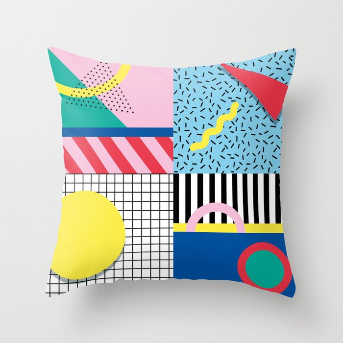 Memphis Party Throw Pillow