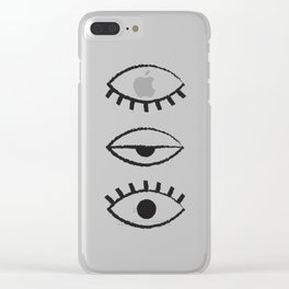 off and on Clear iPhone Case