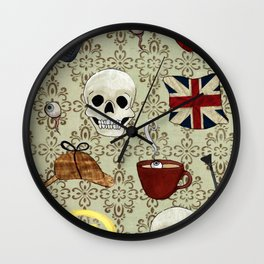 Detective Tools Wall Clock