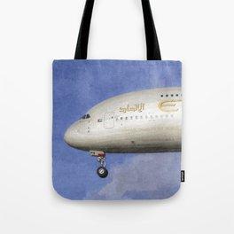 Etihad Airlines Airbus A380 Art Tote Bag