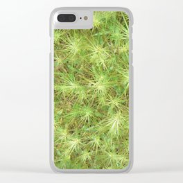 Young, green plants (grass) growing outdoor Clear iPhone Case