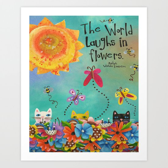 The World Laughs In Flowers Art Print
