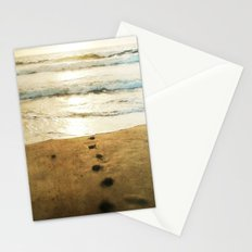 Tracks Into the Sea Stationery Cards