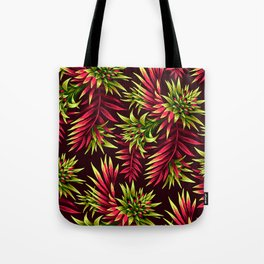 Aechmea Fasciata - Green/Pink Tote Bag