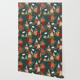 Chemistry Floral Wallpaper