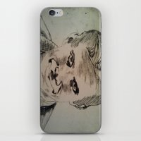 psycho iPhone & iPod Skins featuring Psycho by Paintings That Pop