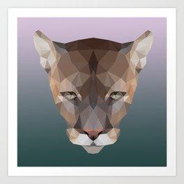 Polygon Puma Art Print