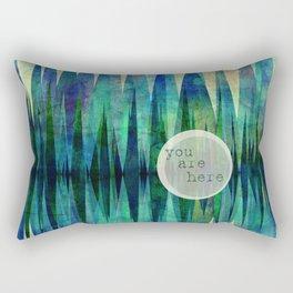 Here abstract art by Ann Powell Rectangular Pillow