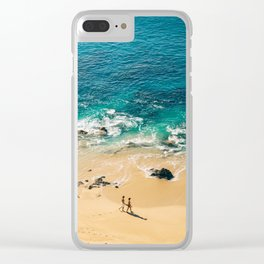 A walk on the beach Clear iPhone Case