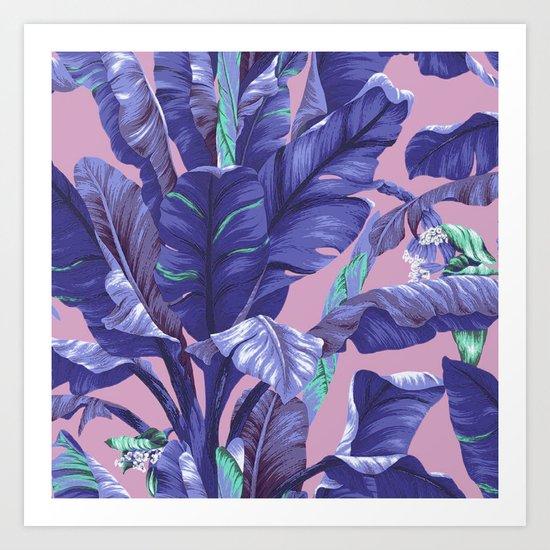 Banana Leaf love Art Print