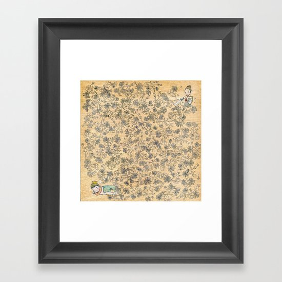 sleeping beau Framed Art Print