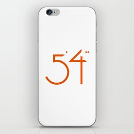 numbers .. five foot four iPhone Skin