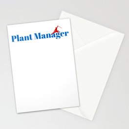 Top Plant Manager Stationery Cards