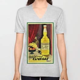 Super rare 1930 Cordial Campari Advertisement Unisex V-Neck